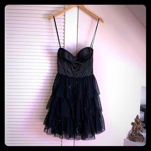 Betsy Johnson strapless black dress